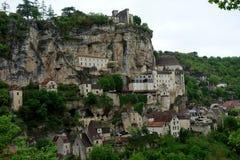 Un altro dettaglio della città di Rocamadur in un giorno nuvoloso Immagine Stock Libera da Diritti