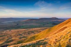 Un amanecer de los valles de Yorkshire Imagen de archivo libre de regalías
