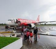 Un amarrage d'avion dans l'aéroport de Kalibo Photo stock