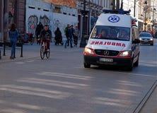 Un'ambulanza nell'azione Immagini Stock Libere da Diritti