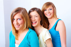 Un'amicizia delle tre ragazze Immagini Stock Libere da Diritti