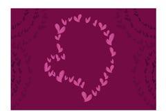 Un amore per il biglietto di S. Valentino Immagine Stock