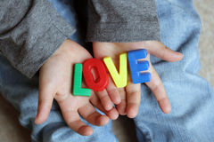 Un amour de childs Photos stock