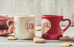 Un amour de tasse Foyer sélectif Photo stock