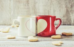 Un amour de tasse Foyer sélectif Images libres de droits