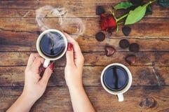 Un amour de tasse Foyer sélectif Photos stock