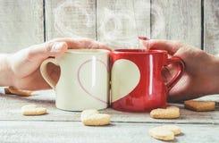 Un amour de tasse Foyer sélectif Photographie stock