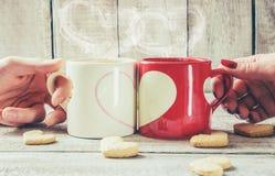 Un amour de tasse Foyer sélectif Photo libre de droits