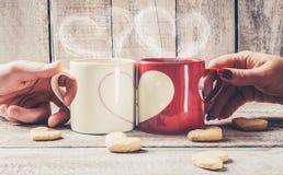 Un amour de tasse Foyer sélectif Photos libres de droits