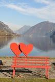 Un amour du lac - lac d'Idro Images stock