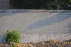 Un'ampia vista del grande svuota la parete dipinta immagine stock
