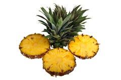 Un ananas contro una priorità bassa bianca Fotografia Stock