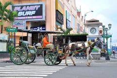 I due Pedicabs Fotografie Stock