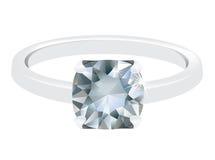 Un anello di diamante Immagine Stock
