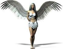 Un angelo moderno illustrazione di stock