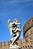 Un angelo sul ponticello di Catel Sant'Angelo immagine stock