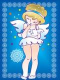 Un angelo timido Fotografia Stock