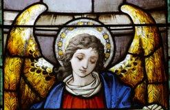 Un angelo in vetro macchiato Fotografia Stock