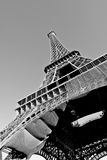Un angle sur Eiffel Photographie stock
