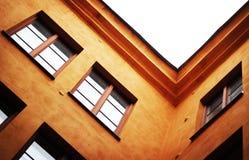 Un angolo di due pareti Fotografia Stock
