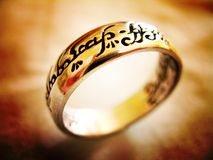 Un anillo para gobernarlas todas Fotografía de archivo libre de regalías