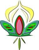 Un'animazione del germoglio di fiore di rossi carmini Fotografia Stock