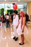 Un anime japonés no identificado cosplay. Fotografía de archivo libre de regalías