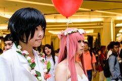 Un anime japonés no identificado cosplay. Imagen de archivo