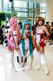 Un anime japonés no identificado cosplay. Foto de archivo libre de regalías