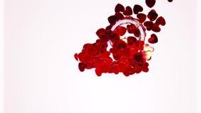 Un anneau de mariage caché sous les coeurs gelés clips vidéos