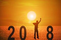 un anno di 2018 notizie illustrazione vettoriale