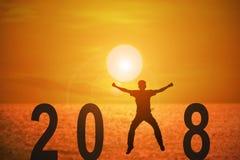 un anno di 2018 notizie Fotografia Stock