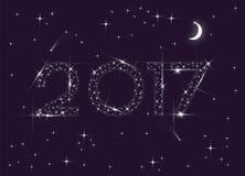 un anno di 2017 stelle Immagini Stock