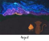 Un anno nella vita di una scimmia Lulu Immagini Stock