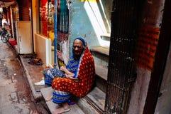 Un anziano a Varanasi, India Fotografia Stock