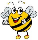 Un'ape felice Immagini Stock
