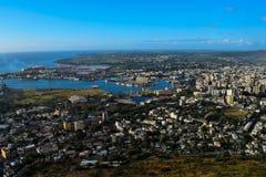 Un aperçu de Port Louis image libre de droits