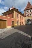 Un aperçu de la petite ville de la République Tchèque l'Europe de krumlov cesky Photos libres de droits