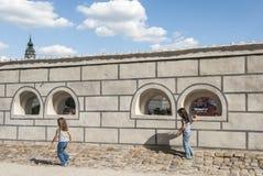 Un aperçu de la petite ville de la République Tchèque l'Europe de krumlov cesky Photographie stock libre de droits