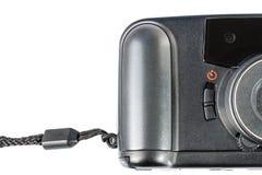 Un appareil-photo en plastique de vieux film d'isolement sur le blanc Photographie stock libre de droits