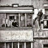 Un appartamento in Ucraina Immagini Stock