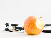 Un Apple par jour garde le docteur Away Image stock