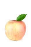 Un Apple rouge mûr avec la lame Image libre de droits