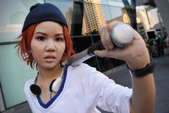 Apprettatrice di cosplay Fotografie Stock