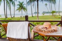 Un après-midi paisible en île de vacances Image stock