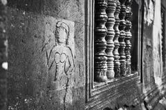 Un Apsaras non finito in Angkor Wat Fotografie Stock