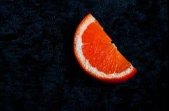 Un'arancia guarda molto fresca immagini stock libere da diritti