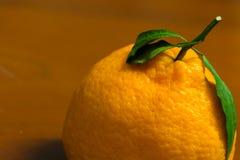 Un'arancia organica giapponese del dekopon sui precedenti di legno Fotografie Stock Libere da Diritti