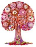 Un arbre-gâteau fantastique d'imagination Photos stock