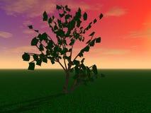 Un arbre mystérieux illustration stock